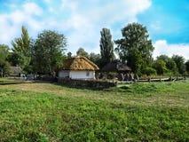 Украина, Pyrohiv Киев - 17-ое сентября 2017: Ландшафт украинской традиционной деревни Стоковое Изображение