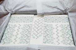 Украинская вышивка прорезной вышивки Стоковое Фото