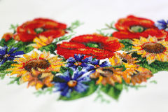 Украинская вышивка Стоковая Фотография