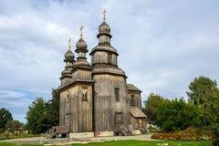 Украинская деревянная церковь в Sednev Стоковые Фото