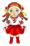 Украинская девушка в национальном платье Стоковые Изображения