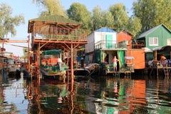 Украинская деревня рыболова Стоковая Фотография