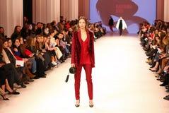 Украинская неделя FW18-19 моды: собрание Katerina KVIT Стоковое Изображение