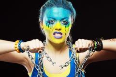 Украинская патриотическая женщина Стоковые Фото