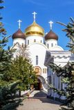 Украинская православная церков церковь патриарха Москвы, святое Assumpti стоковое изображение rf