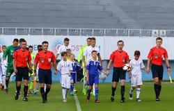 Украинская премьер-лига: Динамомашина Kyiv против Chornomorets Стоковые Фотографии RF