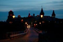 Украинская средневековая крепость взгляд Украины городка podilskyi kamianets замока старый Стоковые Фотографии RF