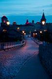 Украинская средневековая крепость взгляд Украины городка podilskyi kamianets замока старый Стоковое Изображение