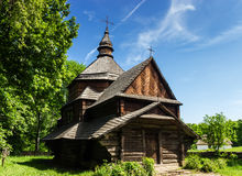 Украинская старая деревянная церковь Стоковая Фотография