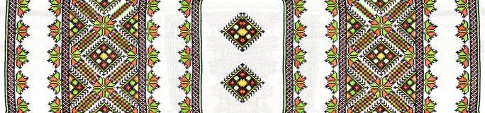 Украинская фольклорная вышивка Стоковое Изображение