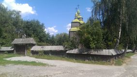 Украинская церковь построенная в столетии XIIX Стоковые Фотографии RF
