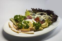 Украинские бекон, сельди и овощи закуски Стоковое Изображение