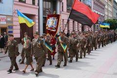 украинские ветераны стоковое фото