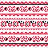 Украинские картина или печать вышивки народного искусства Стоковое Изображение