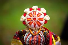 Украинские кукла-motanka или тряпичная кукла заполненные игрушки Стоковые Фото
