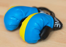 Украинские перчатки бокса иллюстрация вектора
