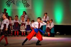 Украинские танцоры молодости Стоковая Фотография