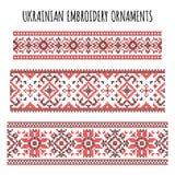 Украинские установленные орнаменты вышивки Стоковые Фотографии RF