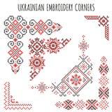 Украинские установленные орнаменты вышивки Стоковое Изображение