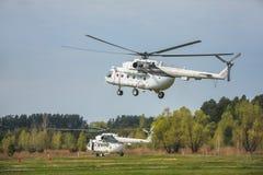 Украинский воинский вертолет Mi-8 Стоковая Фотография
