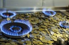 Украинский кризис газа стоковые фотографии rf