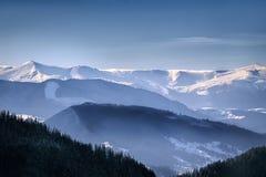 Украинский ландшафт прикарпатских гор Стоковые Фото