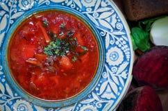 Украинский суп борща Стоковая Фотография RF