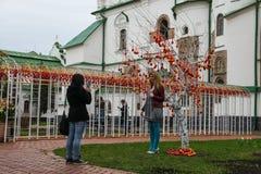 Украинский фестиваль Kyiv пасхальных яя 17.04.2014 до 05.05.2014, стоковые фотографии rf
