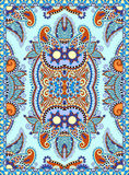 Украинский флористический дизайн ковра для печати на холсте Стоковое фото RF