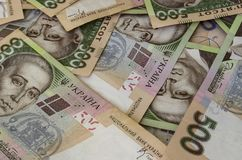 Украинское hryvnia в 500 стоковые изображения