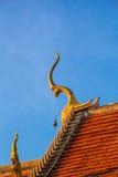 Украсьте верхний щипец тайского виска стоковое изображение rf
