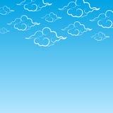 Украсьте облака и море Стоковая Фотография