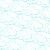 Украсьте облака с стилем Азии Стоковая Фотография