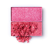 Украсьте дырочками задавленные тени для век для составьте как образец косметического продукта Стоковая Фотография
