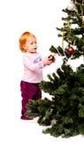 украшает девушку меньший новый год вала Стоковое Изображение