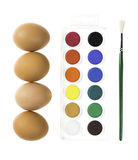 Украшать пасхального яйца Стоковая Фотография