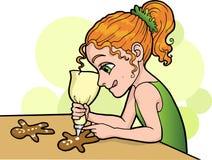 Украшать печенья Иллюстрация штока
