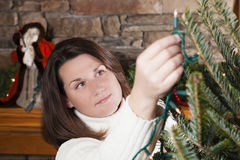 Украшать рождественскую елку Стоковое фото RF