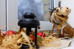 Украшение ламп-фонарика рождества Стоковая Фотография