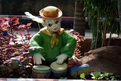 Украшение барабанщика клоуна Стоковые Фото
