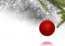 Украшение безделушки рождества и картина рождества снежинки и пустое пространство Стоковое фото RF