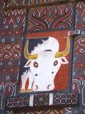 Украшение буйвола Tongkonan в Tana Toraja Стоковые Фотографии RF