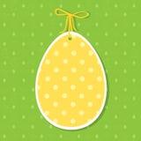 Украшение бумаги пасхи в форме яичка желтый цвет пасхального яйца Стоковое Изображение RF