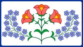 Украшение венгерской вышивки флористическое Стоковое фото RF