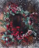 Украшение венка рождества стоковая фотография rf