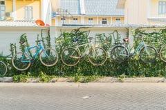 украшение велосипеда на стене Стоковое Фото