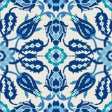 Украшение винтажного оформления штофа арабескы богато украшенное безшовное флористическое Стоковое Фото