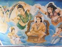 Украшение виска и большой памятник Будды, туристское назначение, Шри-Ланка стоковое изображение rf