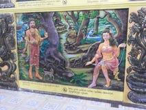 Украшение виска и большой памятник Будды, туристское назначение, Шри-Ланка стоковые фотографии rf
