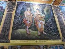 Украшение виска и большой памятник Будды, туристское назначение, Шри-Ланка стоковые изображения